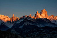 Sunrise of Mount Fitz Roy from Condor lookout, Patagonia, Argentina, 2017
